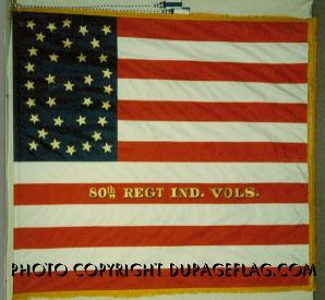 American flag - We offer reproductions of military flags